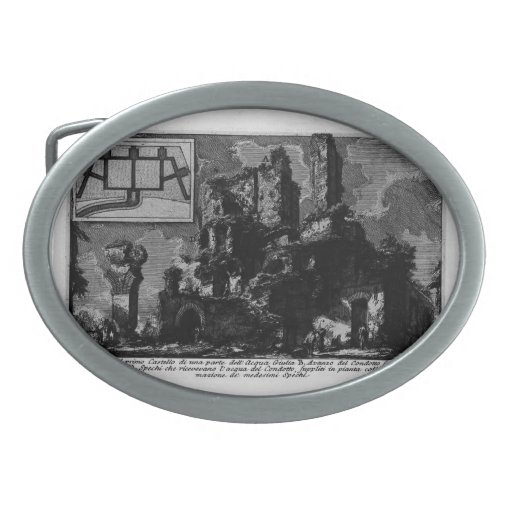 Aguamarina Julia de Juan Piranesi- Hebilla De Cinturon Oval