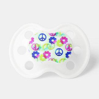 Aguamarina maravillosa del flower power de los chupete de bebe