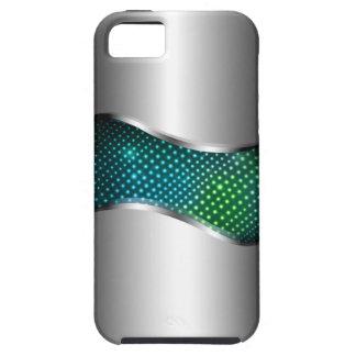 Aguamarina metálica de alta tecnología de la funda para iPhone SE/5/5s