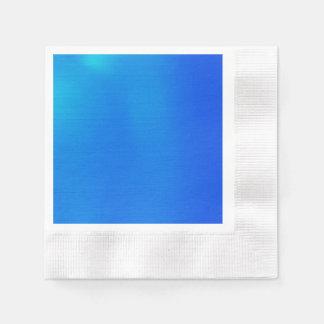 Aguamarina metálica servilletas de papel