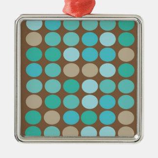 Aguamarina modelo de puntos azul del trullo y de adorno cuadrado plateado