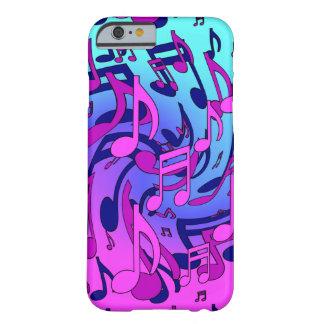 Aguamarina musical de la púrpura del rosa del funda barely there iPhone 6