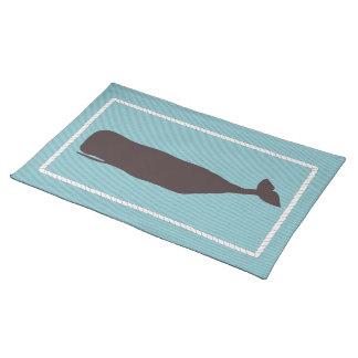 Aguamarina náutica del océano de Placemat de la ba Mantel Individual