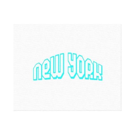 Aguamarina Nueva York Impresion De Lienzo