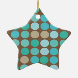 Aguamarina ornamento moderno azul de los puntos ornamentos de reyes