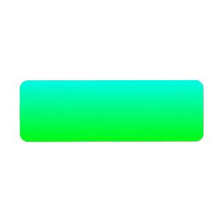 Aguamarina para poner verde la etiqueta de Avery Etiquetas De Remite