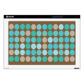 Aguamarina pieles azules del ordenador portátil de 43,2cm portátil calcomanía