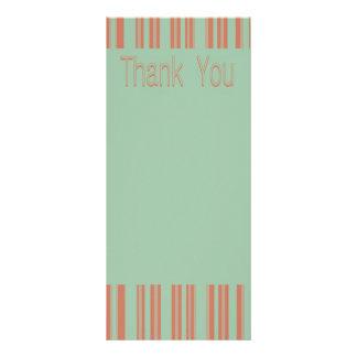 Aguamarina retra y estípites anaranjados tarjeta publicitaria