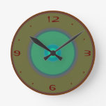 Aguamarina, rojo, >Plain WallClocks del verde de m Relojes De Pared