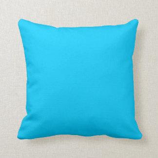 Aguamarina sólida azul cojín
