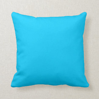 Aguamarina sólida azul cojines