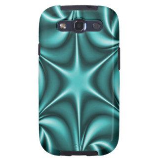 Aguamarina Starflower del trullo del fractal Samsung Galaxy SIII Funda
