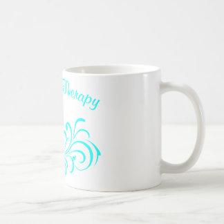 aguamarina subió pinta de la voluta taza de café