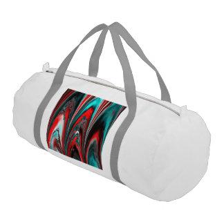 aguamarina veteada del lasershow (l) bolsa de deporte