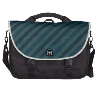 Aguamarina y azules marinos oscuros de encargo con bolsas de portatil