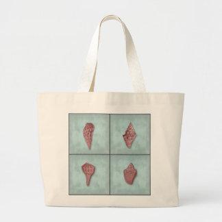 Aguamarina y bolso rosado de la playa del cuarteto bolsas