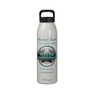 Aguamarina y botella gris de la libertad del coche botella de beber