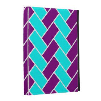 Aguamarina y caja púrpura del iPad de la raspa de