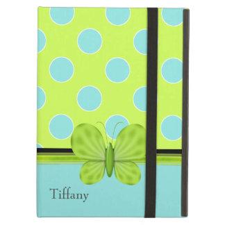 Aguamarina y caja verde del aire del iPad de los