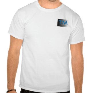 Aguamarina y camiseta simple de las iniciales del