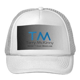 Aguamarina y casquillo simple de las iniciales del gorra