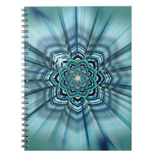 Aguamarina y cuaderno de Lotus de la turquesa