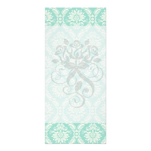 aguamarina y damasco elegante del fleur poner lonas personalizadas