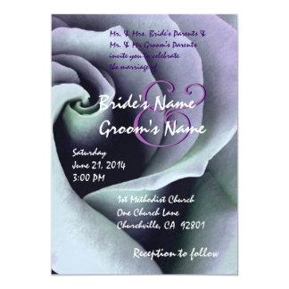 AGUAMARINA y invitación color de rosa espiral