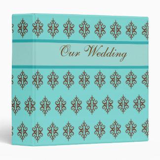 Aguamarina y libro de recuerdos elegantes del boda