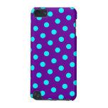 Aguamarina y lunares púrpuras funda para iPod touch 5G
