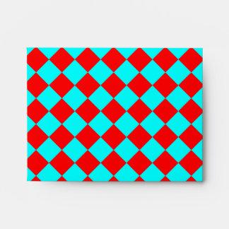 Aguamarina y modelo rojo del Rhombus