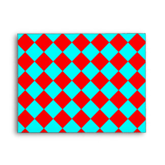 Aguamarina y modelo rojo del Rhombus Sobres