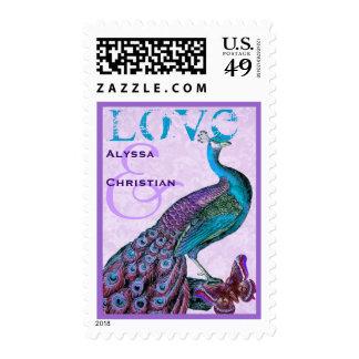 Aguamarina y pavo real púrpura V05 del AMOR del bo