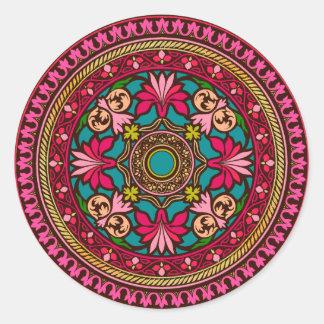 Aguamarina y pegatina del marroquí del rosa