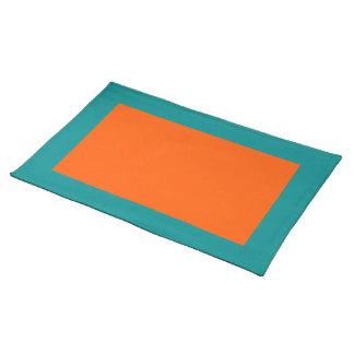 Aguamarina y Placemat anaranjado Manteles