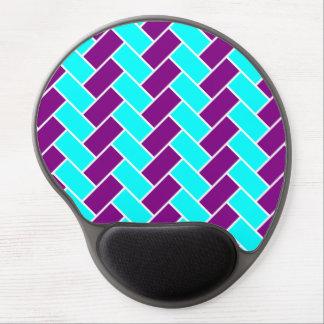 Aguamarina y raspa de arenque púrpura Mousepad Alfombrilla De Raton Con Gel