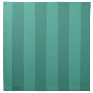 Aguamarina y rayas del trullo servilleta de papel