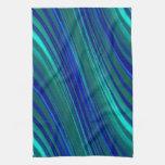 Aguamarina y rayas onduladas del azul real toalla