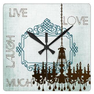 Aguamarina y reloj personalizados de la lámpara de