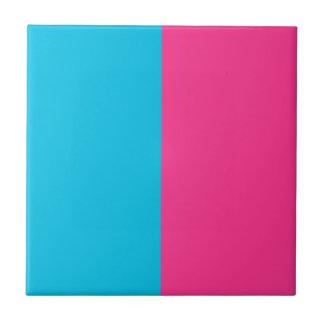 Aguamarina y rosa azulejo cuadrado pequeño