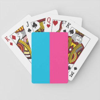 Aguamarina y rosa barajas de cartas