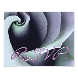 AGUAMARINA y RSVP color de rosa PÚRPURA que casan Comunicado Personal
