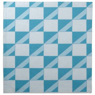 Aguamarina y servilletas de cena rayadas diagonale