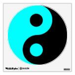 Aguamarina y símbolo negro de Yin Yang