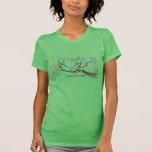 Aguamarina y verde feliz nunca después de camiseta
