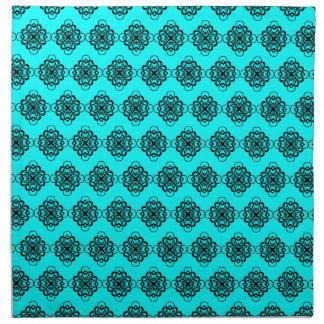 Aguamarina y vínculos decorativos modernos del servilletas