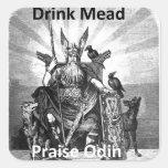 Aguamiel de la bebida - alabanza Odin Pegatina
