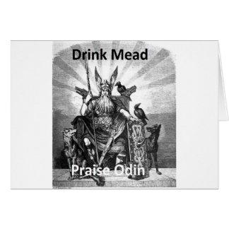 Aguamiel de la bebida - alabanza Odin Tarjeta De Felicitación