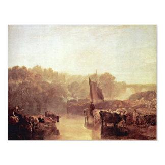 """Aguamiel Oxfordshire de Dorchester de Turner José Invitación 4.25"""" X 5.5"""""""