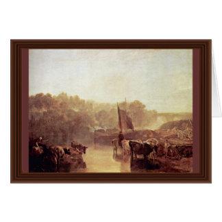 Aguamiel Oxfordshire de Dorchester de Turner José  Tarjeta De Felicitación